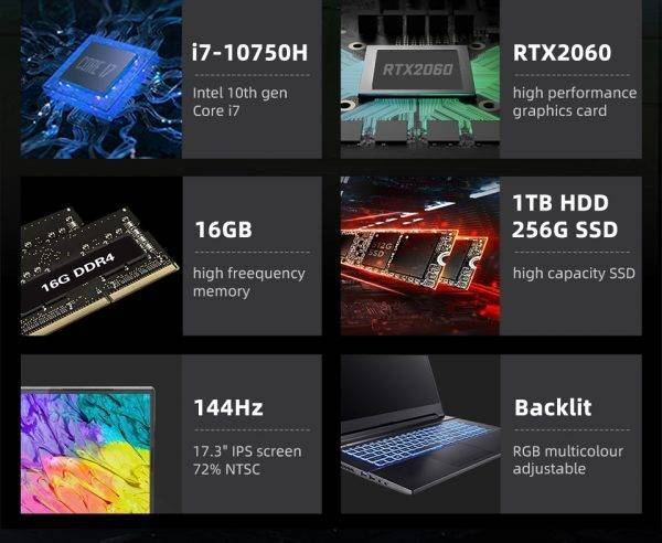 Hasee G8 i7 10th Gen High Performance Laptop