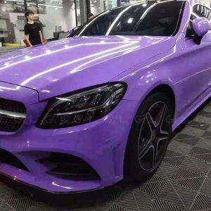 Glossy Crystal Lavender Vinyl Wrap Film Air Bubble Free Size 1.52*20M/Roll